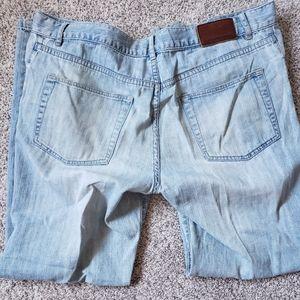 Mens Calvin Klein Straight Leg Jean's Light Blue